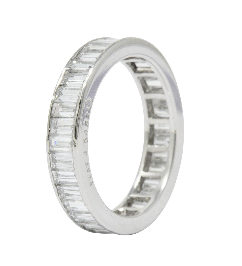 Oscar Heyman 1.80 CTW Diamond Platinum Eternity Band Ring Ring