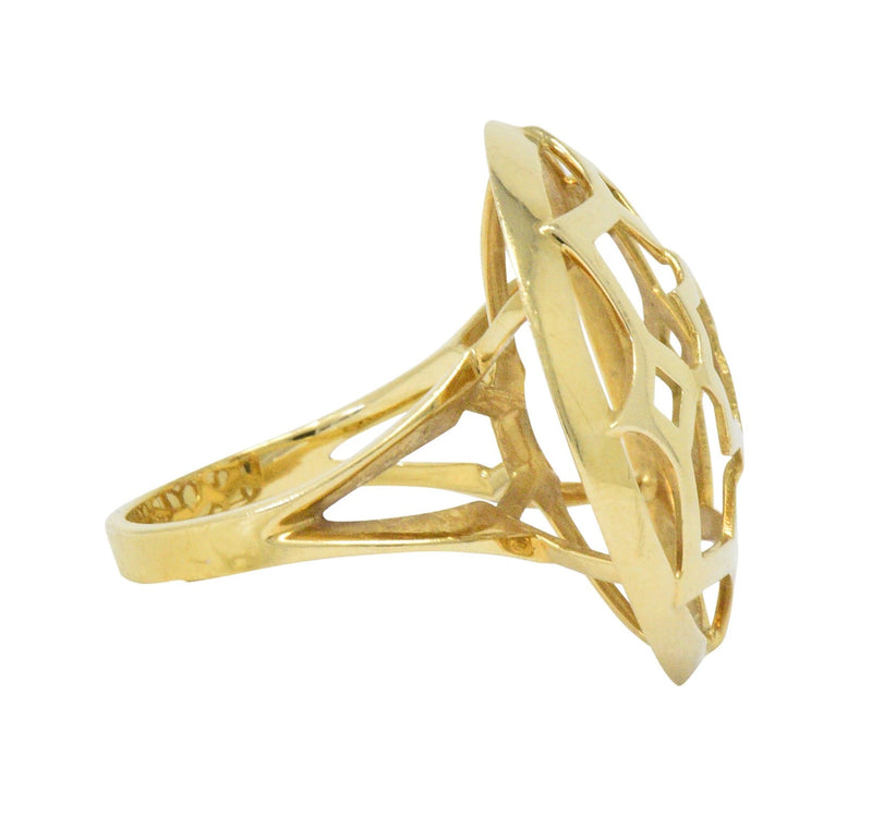 Paloma Picasso Tiffany & Co. 18 Karat Gold Zellige Statement Ring - Wilson's Estate Jewelry