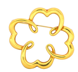 1981 Paloma Picasso Tiffany & Co. 18 Karat Gold Quatrefoil Brooch - Wilson's Estate Jewelry