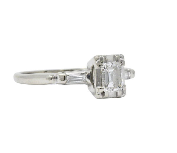 Regal 0.45 CTW Diamond 14 Karat White Gold Engagement Ring - Wilson's Estate Jewelry