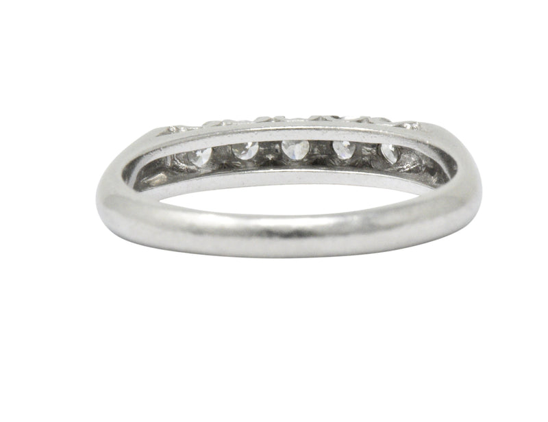 Retro 0.25 CTW Diamond Platinum Anniversary Band Ring - Wilson's Estate Jewelry