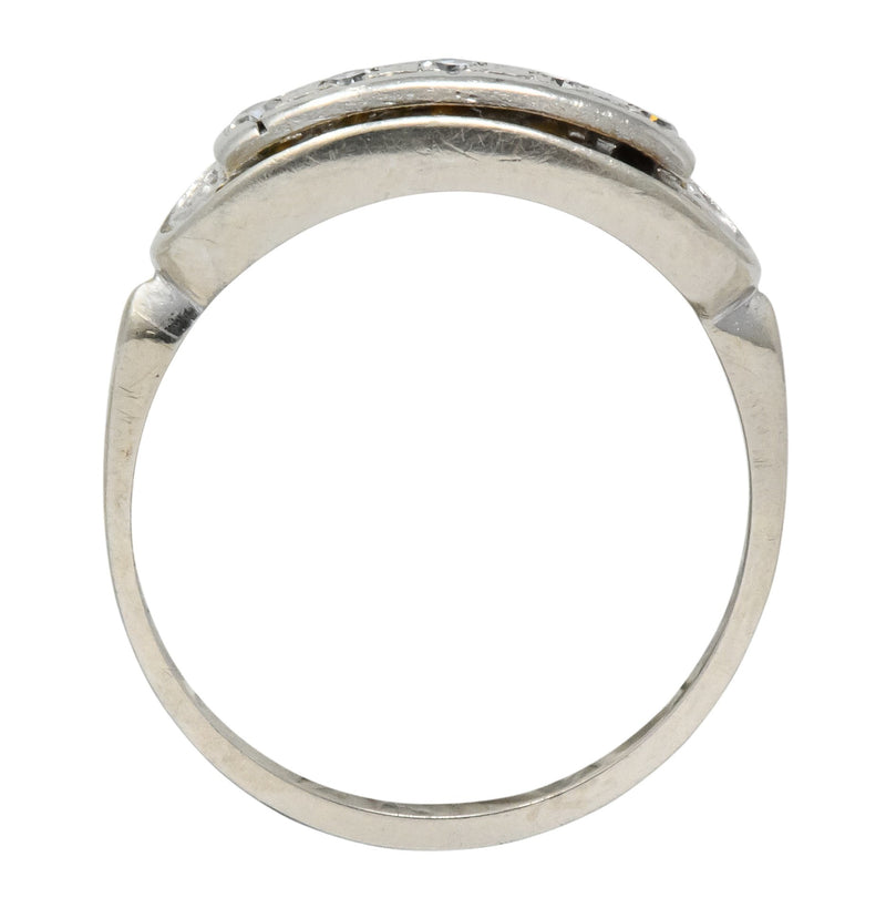 Retro 1950's Diamond White Gold Anniversary Band Stackable Ring - Wilson's Estate Jewelry