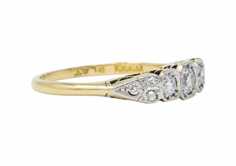 Saunders Late Victorian 0.40 CTW Diamond And Platinum-Topped 18 Karat Gold Ring Ring out-of-stock Victorian