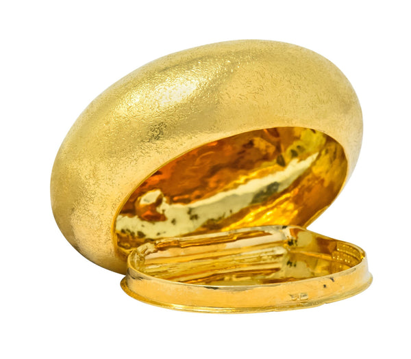 Schlumberger Tiffany & Co. 18 Karat Gold Pebble Pill Box Circa 1960 charm
