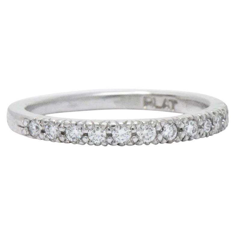 Scott Kay .25 CTW Diamond & Platinum Wedding Band Stackable Ring Ring