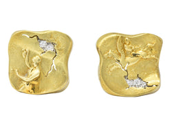 SeidenGang Diamond 18 Karat Gold Platinum Pegasus Odyssey Collection Earrings - Wilson's Estate Jewelry