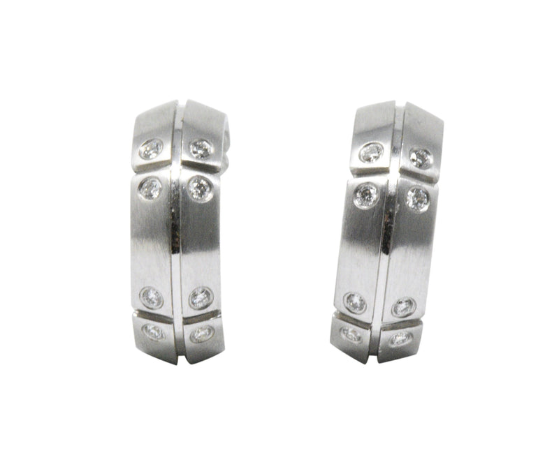 Tiffany & Co. 0.25 CTW Diamond 18K White Gold Earrings, Streamerica, CA 2000 - Wilson's Estate Jewelry