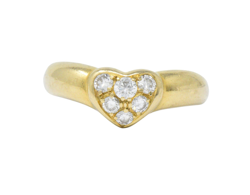 Tiffany & Co. 0.25 CTW Diamond And 18 Karat Gold Heart Ring - Wilson's Estate Jewelry