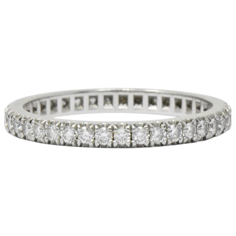Tiffany & Co. 0.40 CTW Diamond Platinum Eternity Band Ring - Wilson's Estate Jewelry