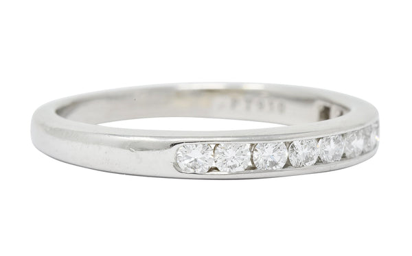 Tiffany & Co. 0.55 CTW Diamond Platinum Anniversary Channel Band Ring - Wilson's Estate Jewelry
