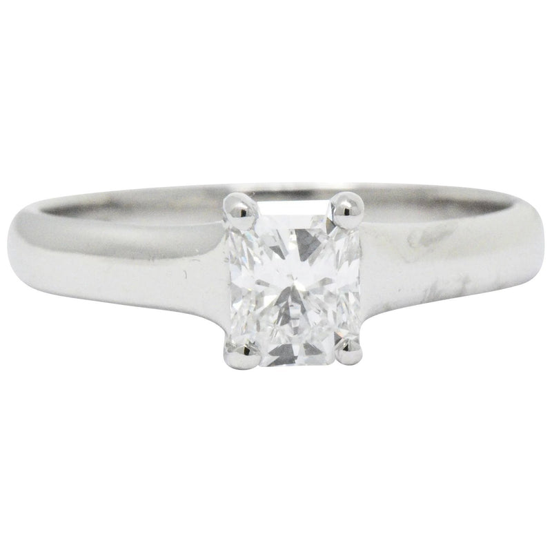 Tiffany & Co. 0.59 CTW Lucida Diamond Platinum Engagement Ring GIA Circa 2002 - Wilson's Estate Jewelry