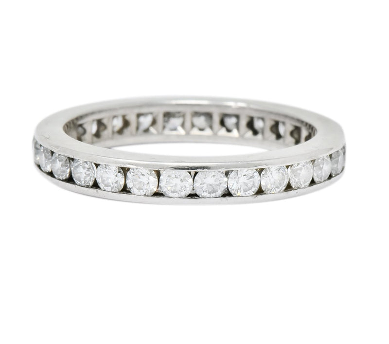 Tiffany & Co. 1.05 CTW Round Brilliant Cut Diamond Platinum Eternity Band Ring - Wilson's Estate Jewelry