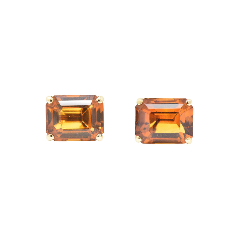 Tiffany & Co. 12.25 Carat Citrine & 18K Yellow Gold Retro Screw Back Earrings Earrings