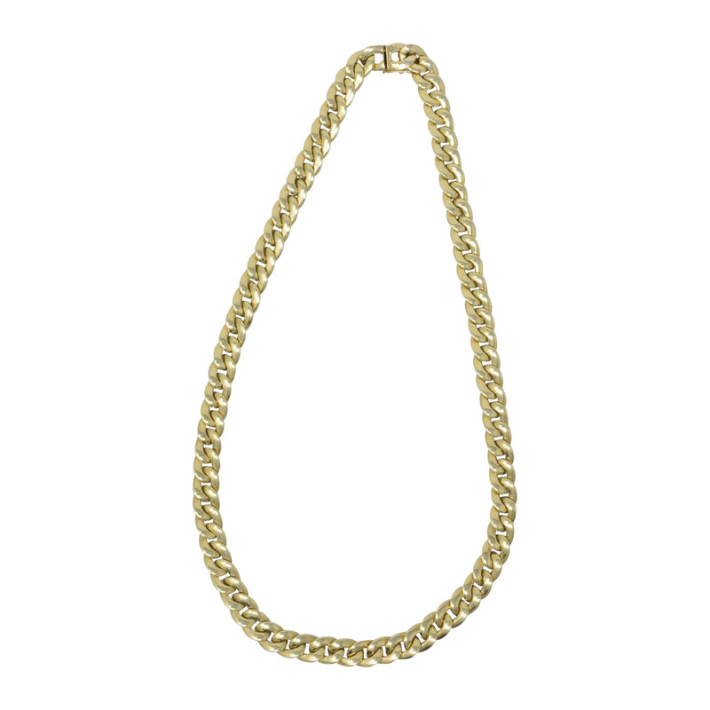 Tiffany & Co. 14 Karat Gold 24 Inch Curbed Chain Necklace - Wilson's Estate Jewelry