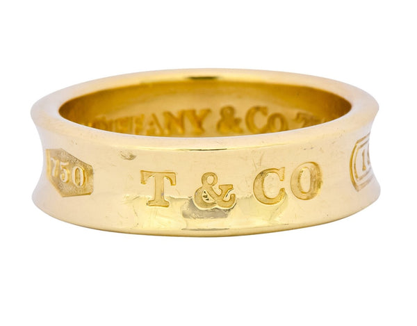 Tiffany & Co. 18 Karat Yellow Gold Tiffany 1837 Band Ring Ring