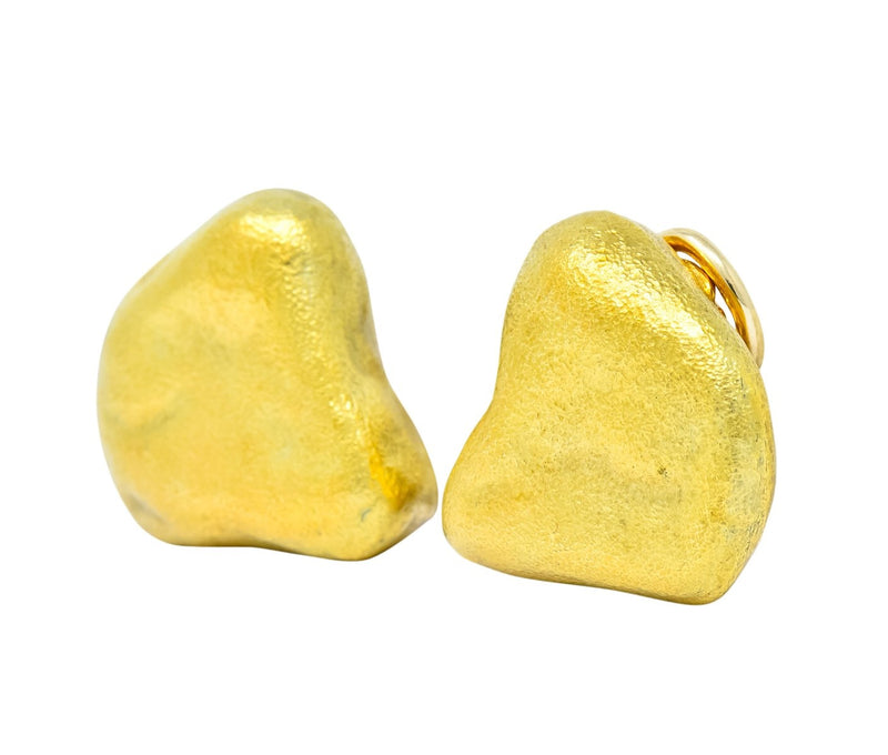 Tiffany & Co. 18 Karat Yellow Gold Contemporary Ear-Clip Earrings - Wilson's Estate Jewelry
