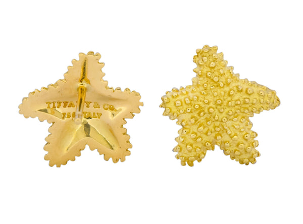 Tiffany & Co. 18 Karat Yellow Gold Starfish Stud Earrings Earrings