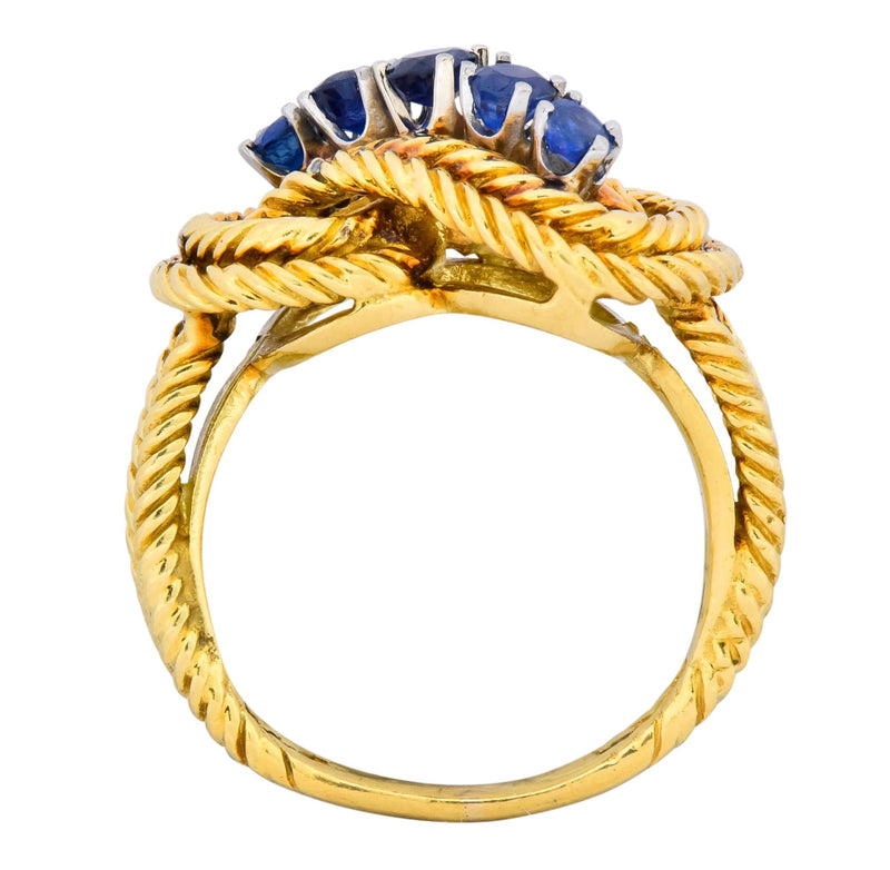 Tiffany & Co. 1960's 0.55 CTW Sapphire 18 Karat Gold Ring - Wilson's Estate Jewelry