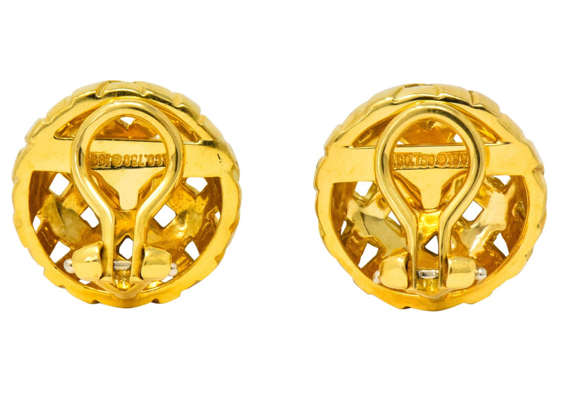 Tiffany & Co. 1995 18 Karat Gold Woven Ear-Clip Earrings - Wilson's Estate Jewelry