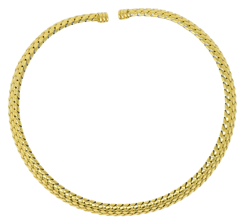 Tiffany & Co. 1997 18 Karat Gold Flexible Collar Necklace Necklace