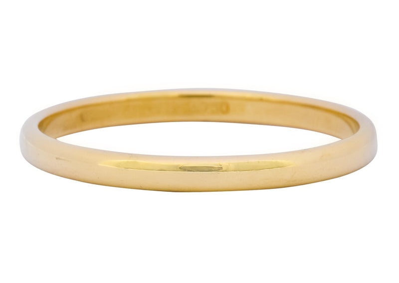 Tiffany & Co. 1999 Modern 18 Karat Gold Stacking Wedding Band Unisex Ring Ring Contemporary out-of-stock Signed Tiffany & Co.