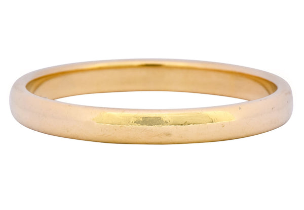 Tiffany & Co. 1999 Modern 18 Karat Gold Wedding Unisex Band Ring Ring contemporary out-of-stock signed Tiffany & Co.