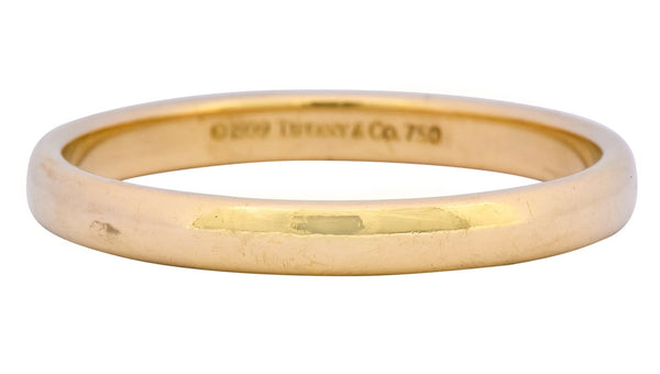 Tiffany & Co. 1999 Modern 18 Karat Gold Wedding Unisex Band Ring Ring