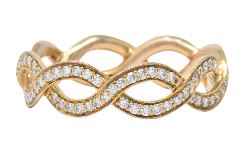 Tiffany & Co. .55CTW Diamond & 14K Rose Gold Eternity Band Ring Ring