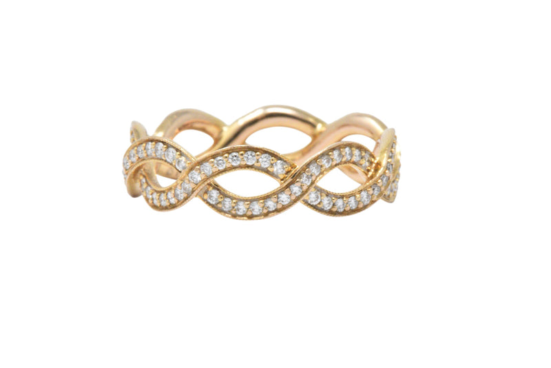 Tiffany & Co. .55CTW Diamond & 14K Rose Gold Eternity Band Ring - Wilson's Estate Jewelry