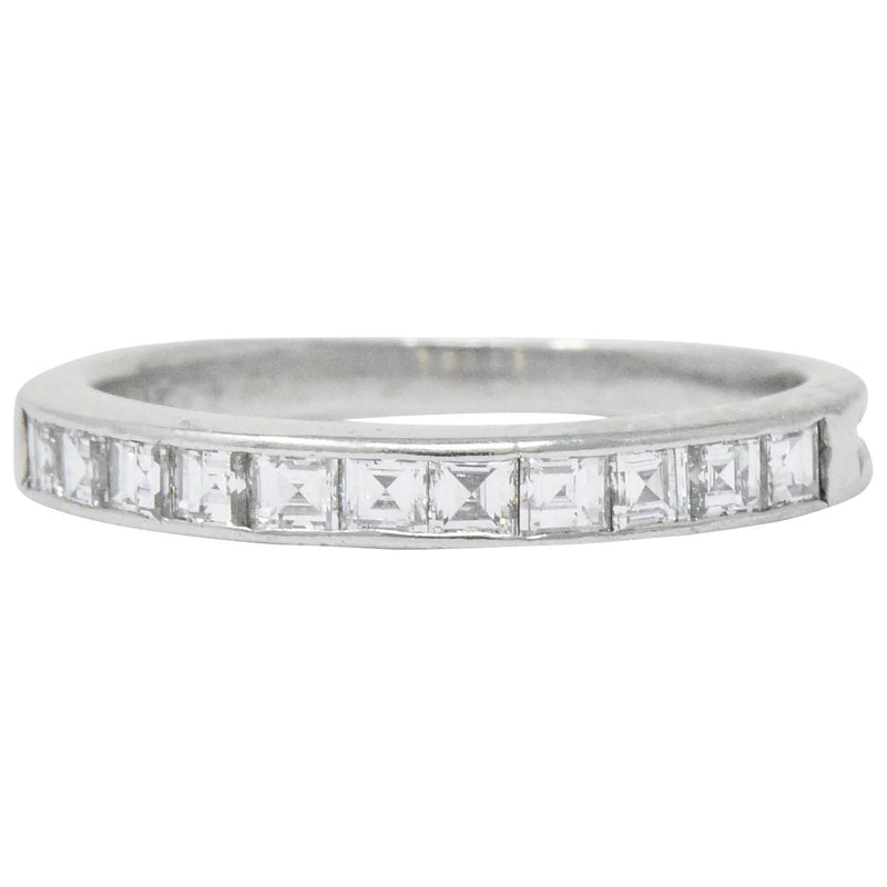 Tiffany & Co. Art Deco 0.55 CTW Diamond Platinum Stackable Band Ring Ring