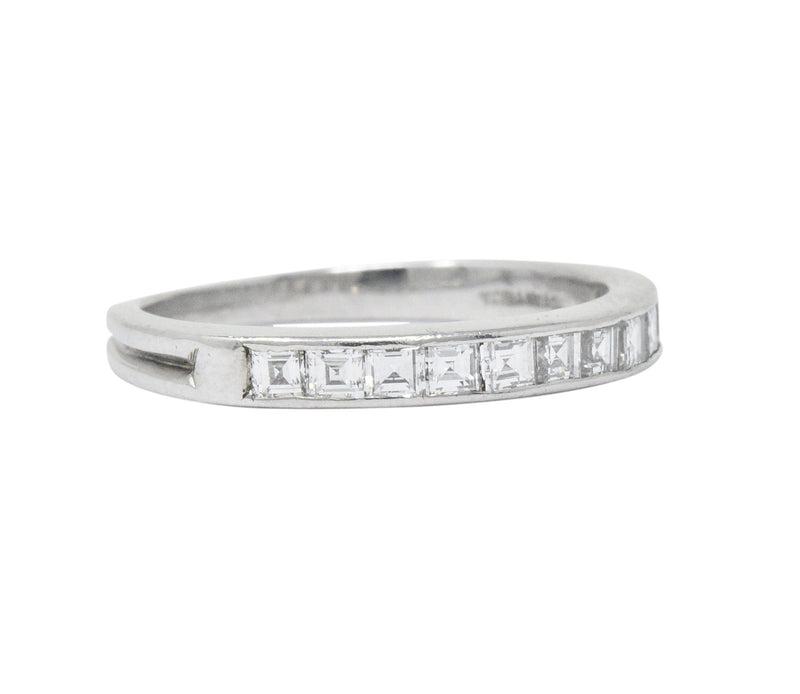 Tiffany & Co. Art Deco 0.55 CTW Diamond Platinum Stackable Band Ring - Wilson's Estate Jewelry
