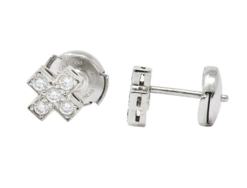 Tiffany & Co. Contemporary 0.30 CTW Diamond Platinum Cruciform Earrings Earrings