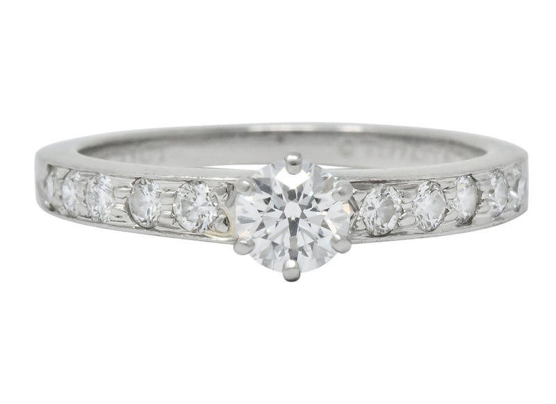 Tiffany & Co. Contemporary 0.48 CTW Diamond Platinum Engagement Ring Ring