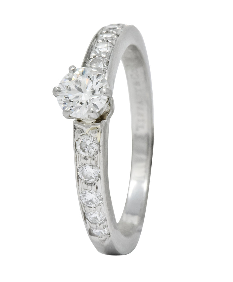 Tiffany & Co. Contemporary 0.48 CTW Diamond Platinum Engagement Ring - Wilson's Estate Jewelry