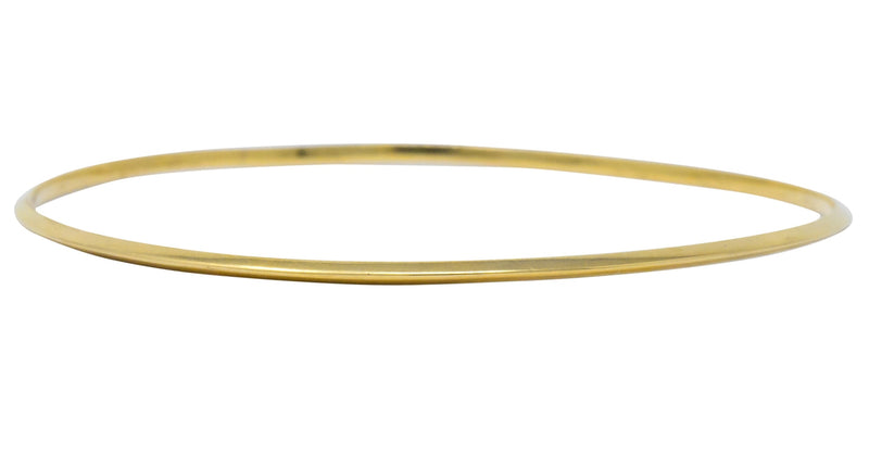 Tiffany & Co. Contemporary 14 Karat Gold Knife Edge Bangle Bracelet - Wilson's Estate Jewelry