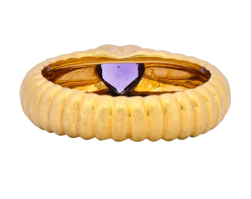 Tiffany & Co. Contemporary Amethyst Heart 18 Karat Gold Ring - Wilson's Estate Jewelry