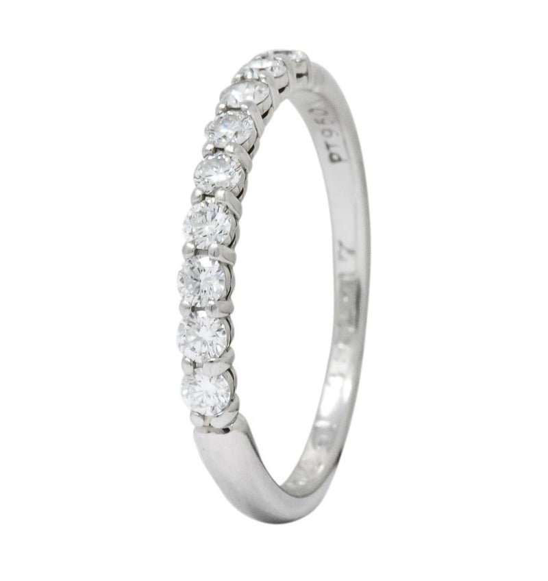 Tiffany & Co. Contemporary Diamond Platinum Band Ring - Wilson's Estate Jewelry
