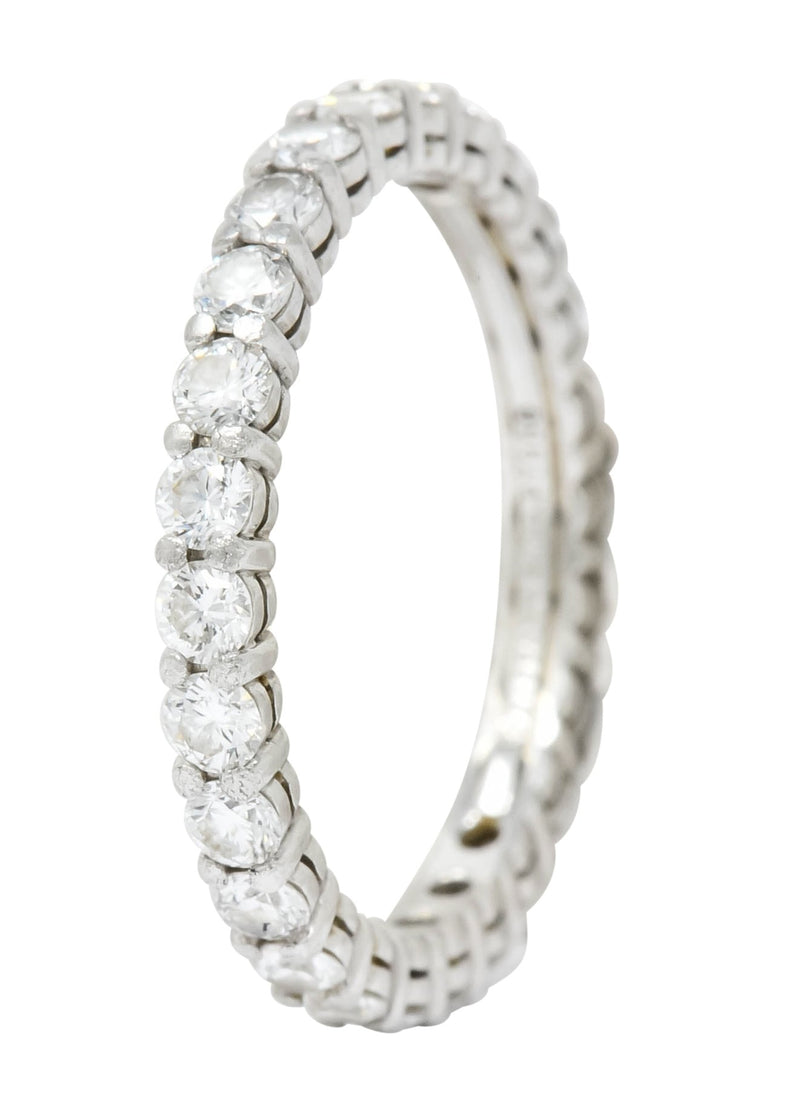 Tiffany & Co. Diamond Platinum Wedding Stacking Eternity Band Ring - Wilson's Estate Jewelry