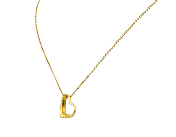 Tiffany & Co Elsa Peretti 18 Karat Gold Open Heart Necklace Necklace