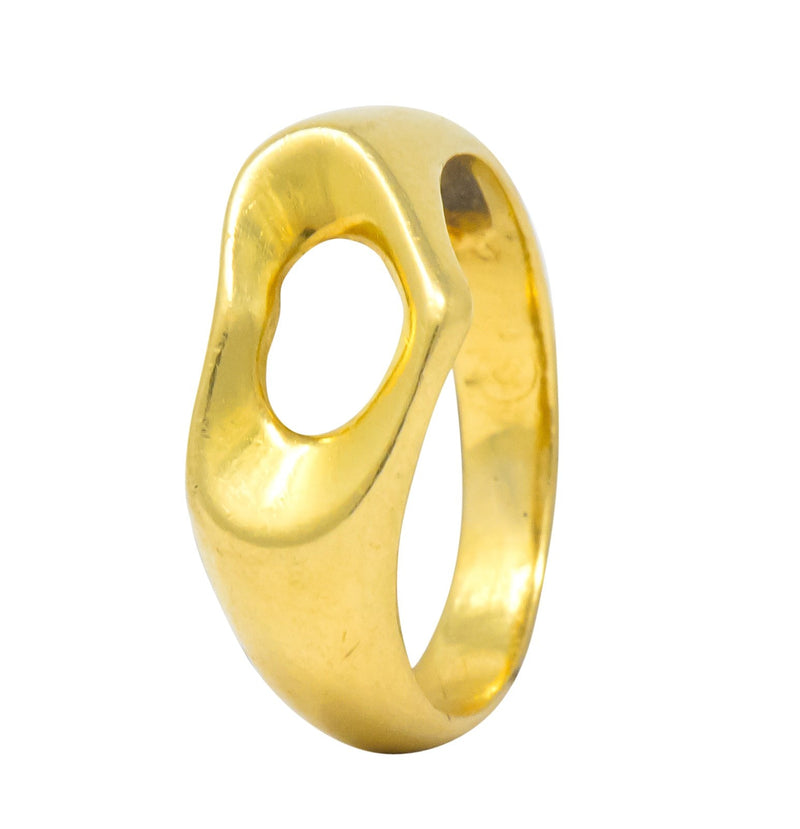 Tiffany & Co. Elsa Peretti 18 Karat Gold Open Heart Ring - Wilson's Estate Jewelry