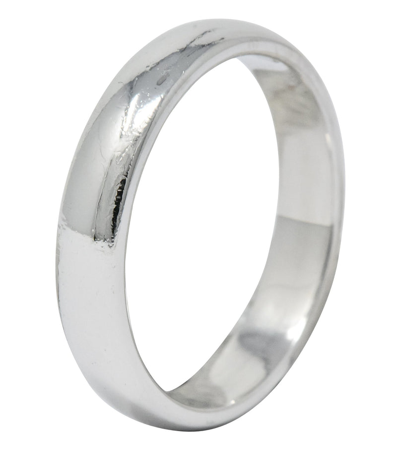 Tiffany & Co. Modern 1999 Platinum Men's Wedding Band Ring - Wilson's Estate Jewelry
