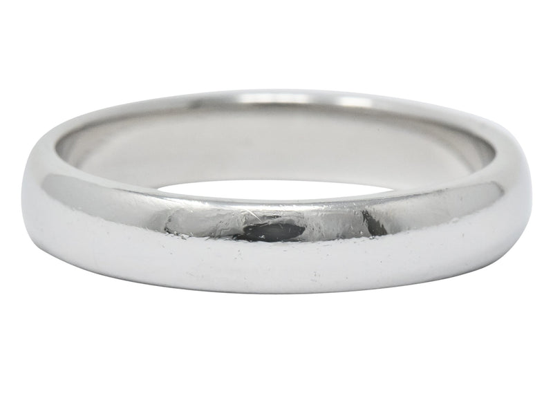 Tiffany & Co. Modern 1999 Platinum Mens Wedding Band Ring Ring