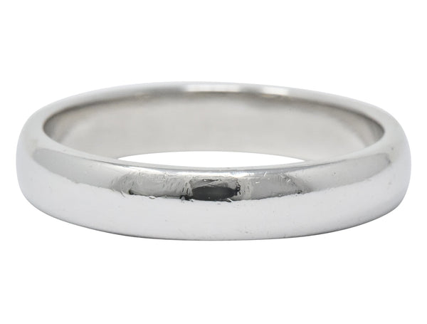 Tiffany & Co. Modern 1999 Platinum Mens Wedding Band Ring Ring Contemporary out-of-stock signed