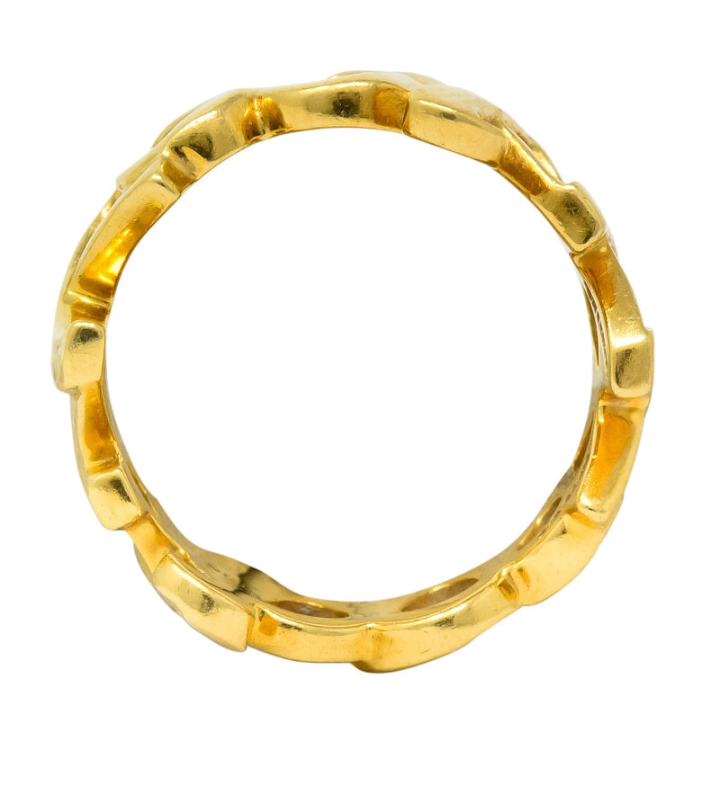 Tiffany & Co. Paloma Picasso 1984 18 Karat Gold Graffiti Love And Kisses Band Ring - Wilson's Estate Jewelry