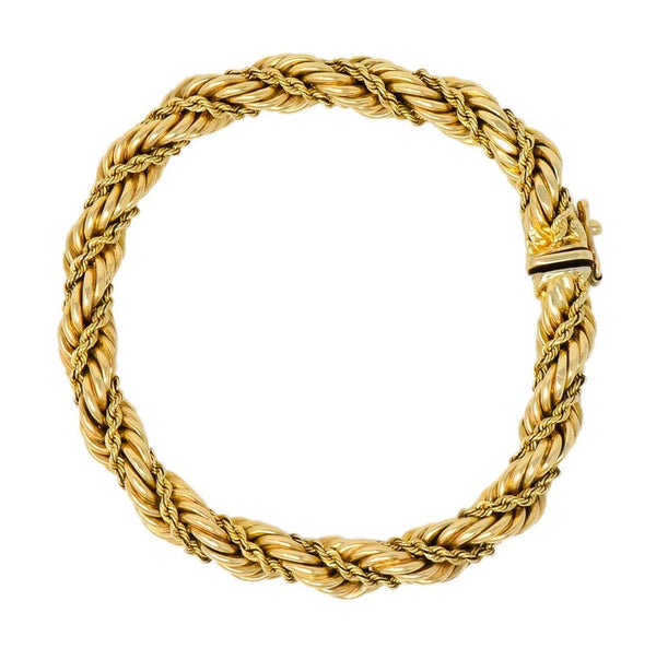 Tiffany & Co. Vintage 14 Karat Gold Twisted Rope Bracelet bracelet