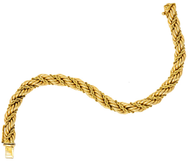 Tiffany & Co. Vintage 14 Karat Yellow Gold Twisted Rope Bracelet bracelet
