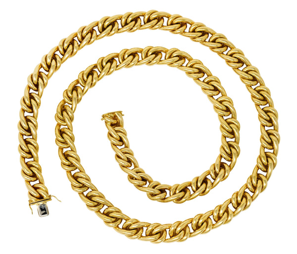 Tiffany & Co. Vintage 18 Karat Yellow Gold Substantially Linked Chain Necklace Necklace Contemporary signed Tiffany & Co.