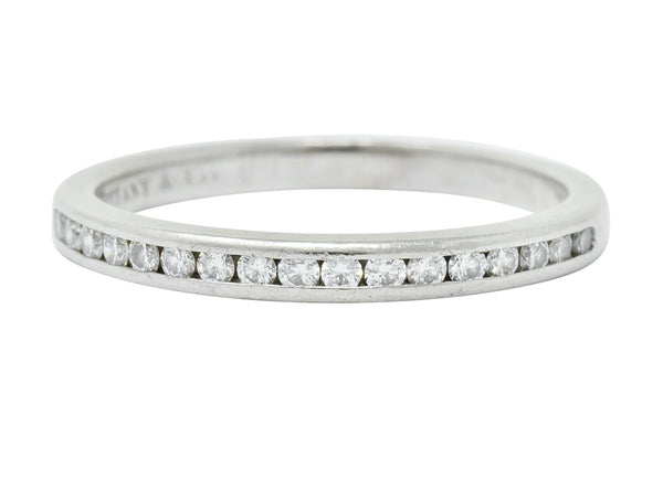 Tiffany & Co. Vintage Diamond Anniversary Stacking Band Ring Ring Contemporary diamonds Round brilliant signed stacking