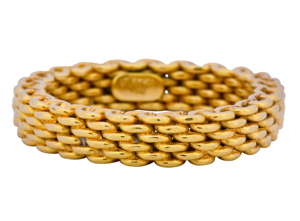 Timeless Tiffany & Co. 18 Karat Gold Mesh Somerset Band Ring Ring