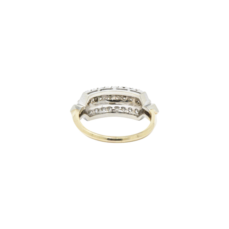 Understated .20 CTW Diamond & 14K Gold Two-Tone Retro Ring Ring